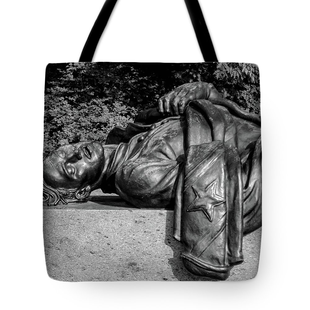 The State Of Louisiana Monument Is Southwest Of Gettysburg On West Confederate Avenue Across From Pitzer's Woods. It Was Dedicated On June 11 Tote Bag featuring the photograph The State Of Louisiana Monument by William Rogers