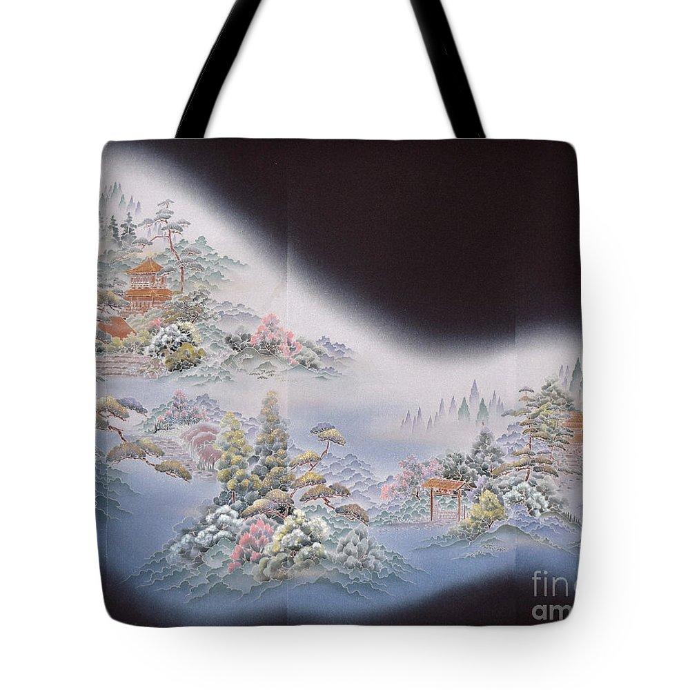 Tote Bag featuring the digital art Spirit of Japan T64 by Miho Kanamori