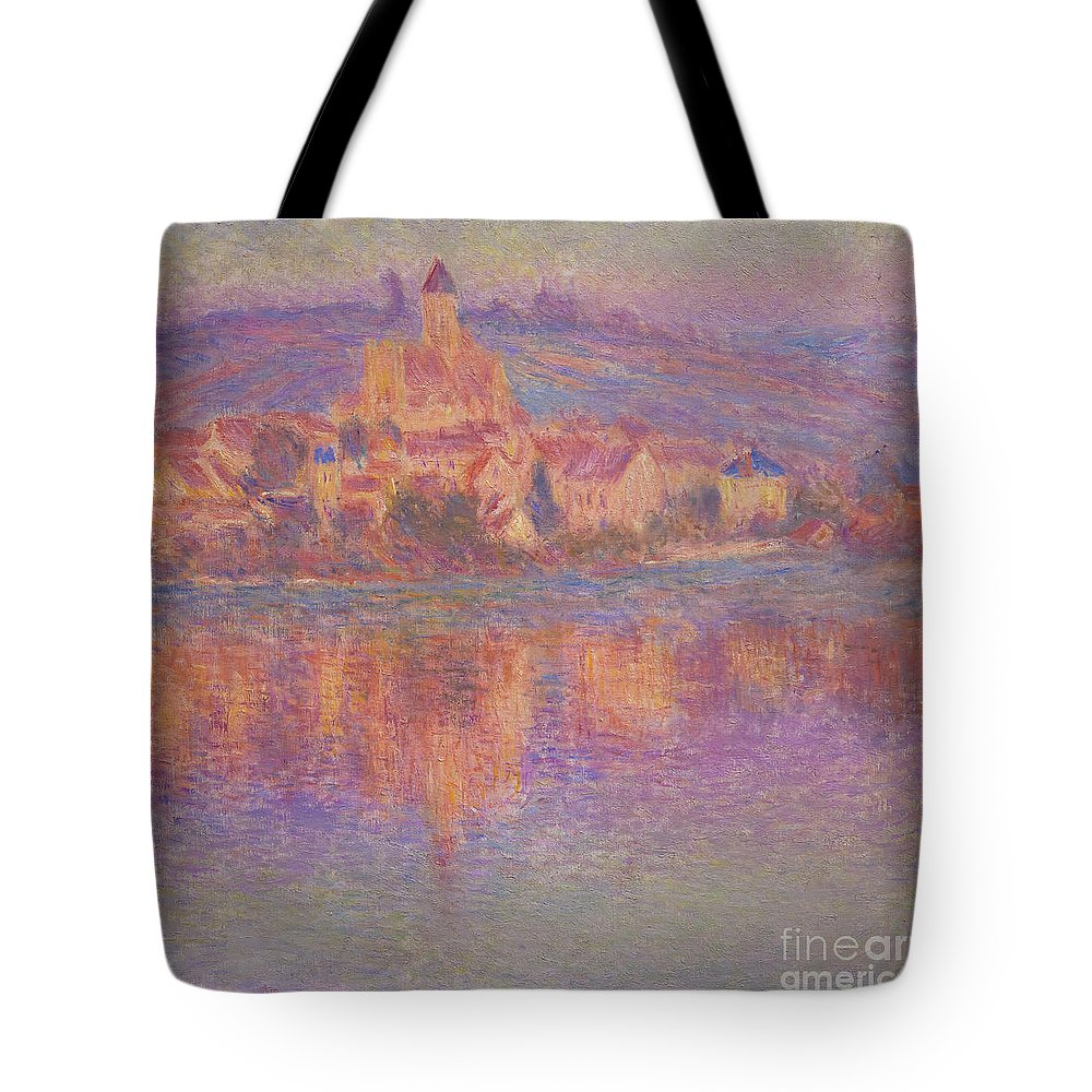 1901 Tote Bag featuring the photograph Vetheuil by Peter Barritt