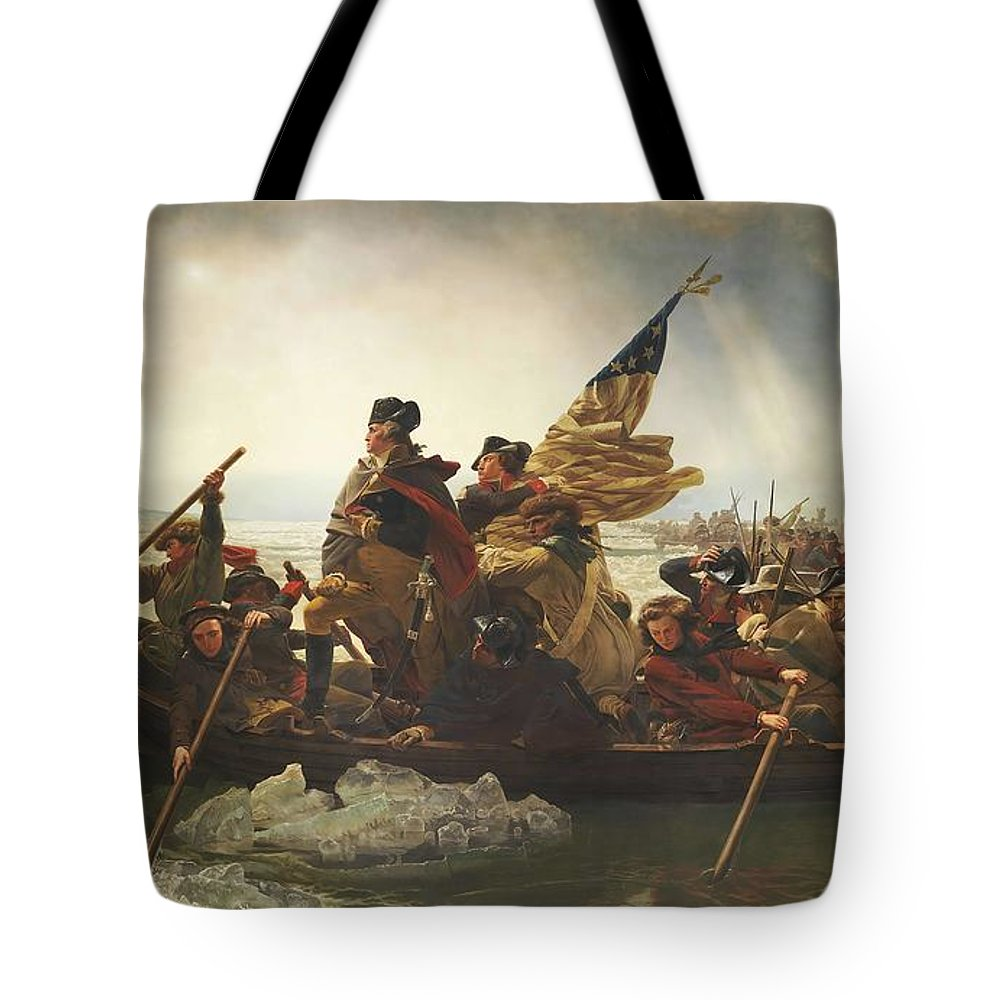 Emanuel Leutze Tote Bag featuring the painting Washington Crossing The Delaware by Emanuel Leutze