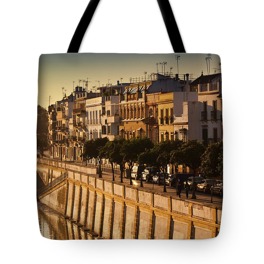 Tranquility Tote Bag featuring the photograph Spain, Andalucia Region, Seville by Walter Bibikow