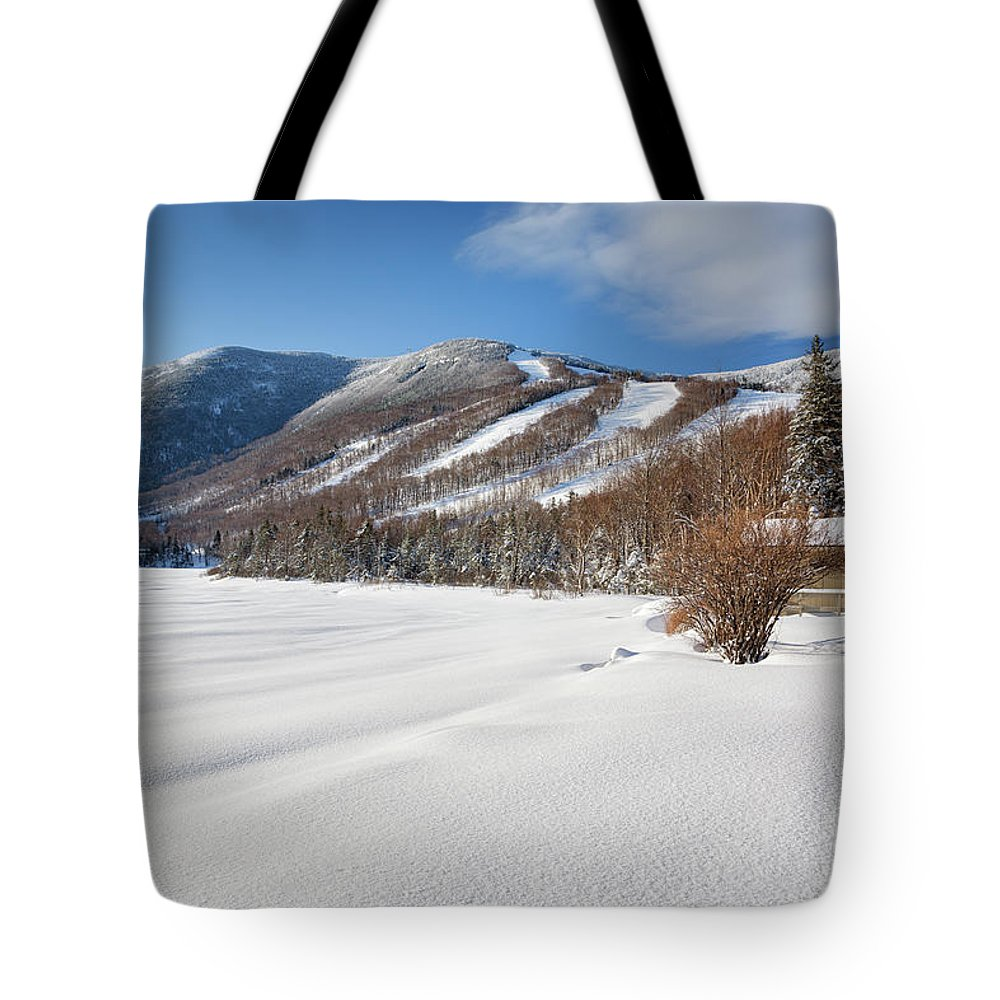 Franconia Notch State Park Tote Bag featuring the photograph Cannon Mountain - White Mountains New Hampshire by Erin Paul Donovan
