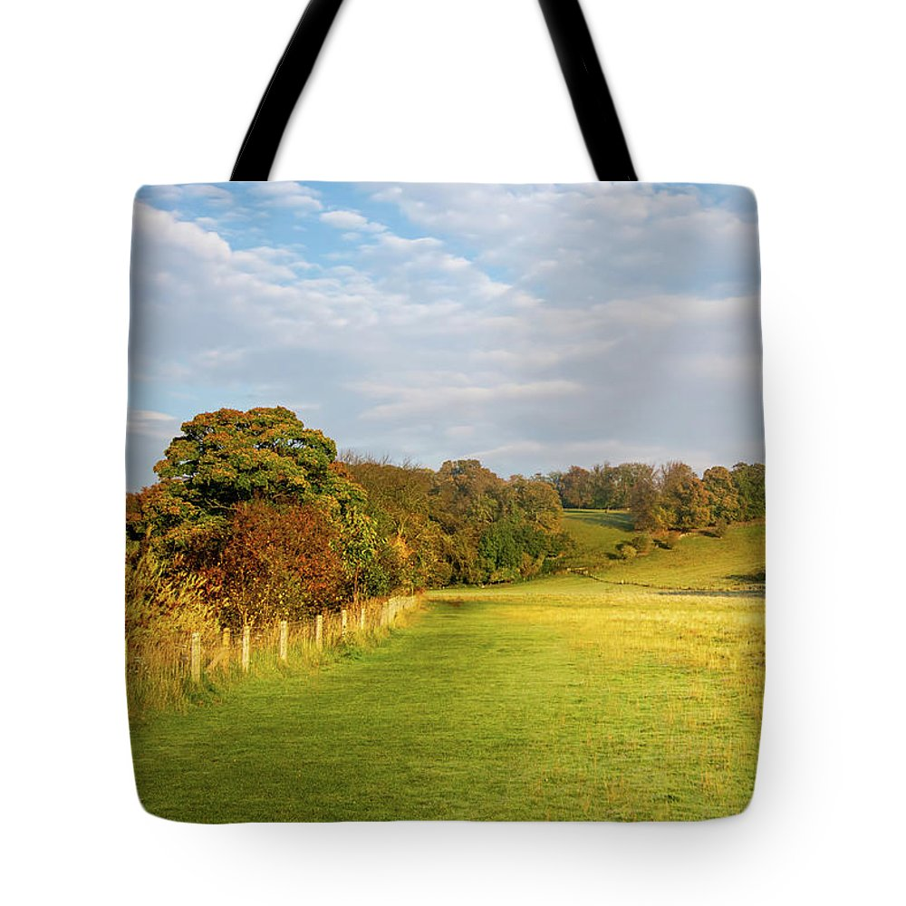 Easby Tote Bag featuring the mixed media Easby To Richmond by Smart Aviation