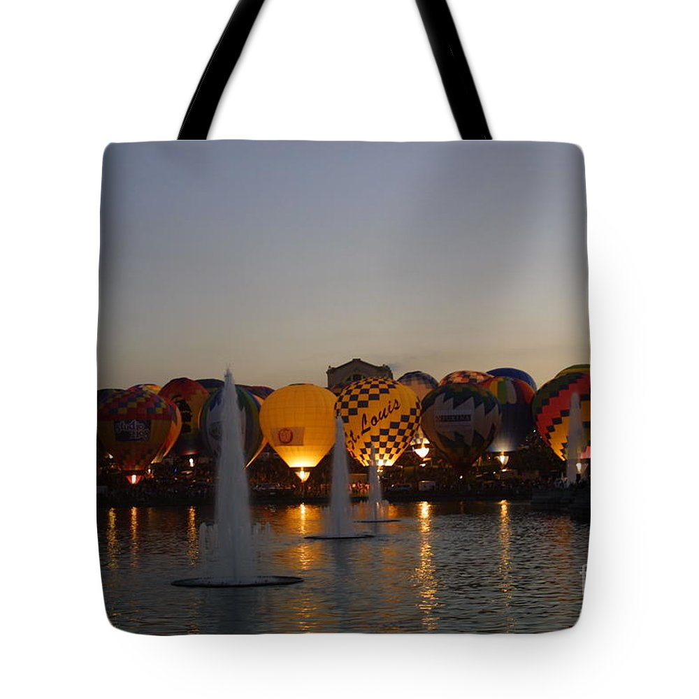 Hot Air Balloon Tote Bag featuring the photograph Hot Air 2018 Balloon Glow by Darren Dwayne Frazier