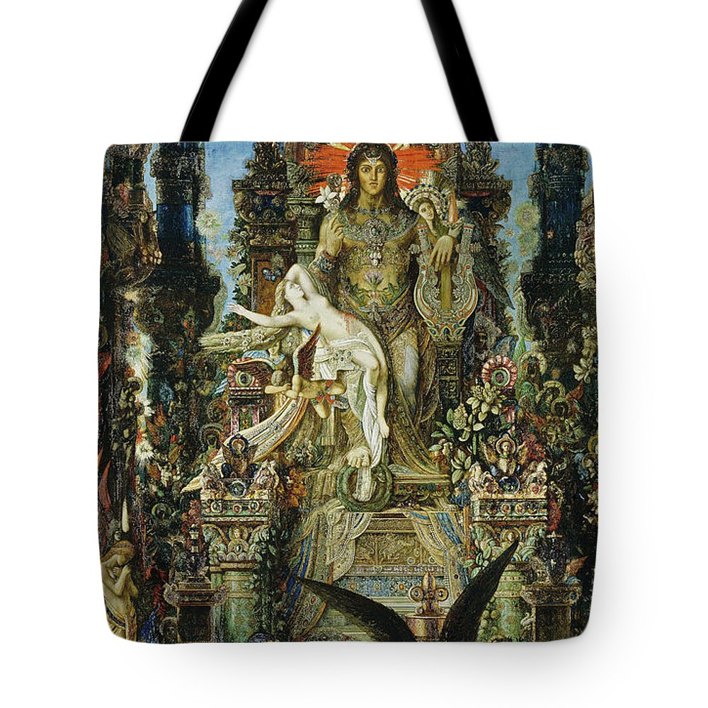 Myths Tote Bag featuring the painting Jupiter And Semele by Gustave Moreau