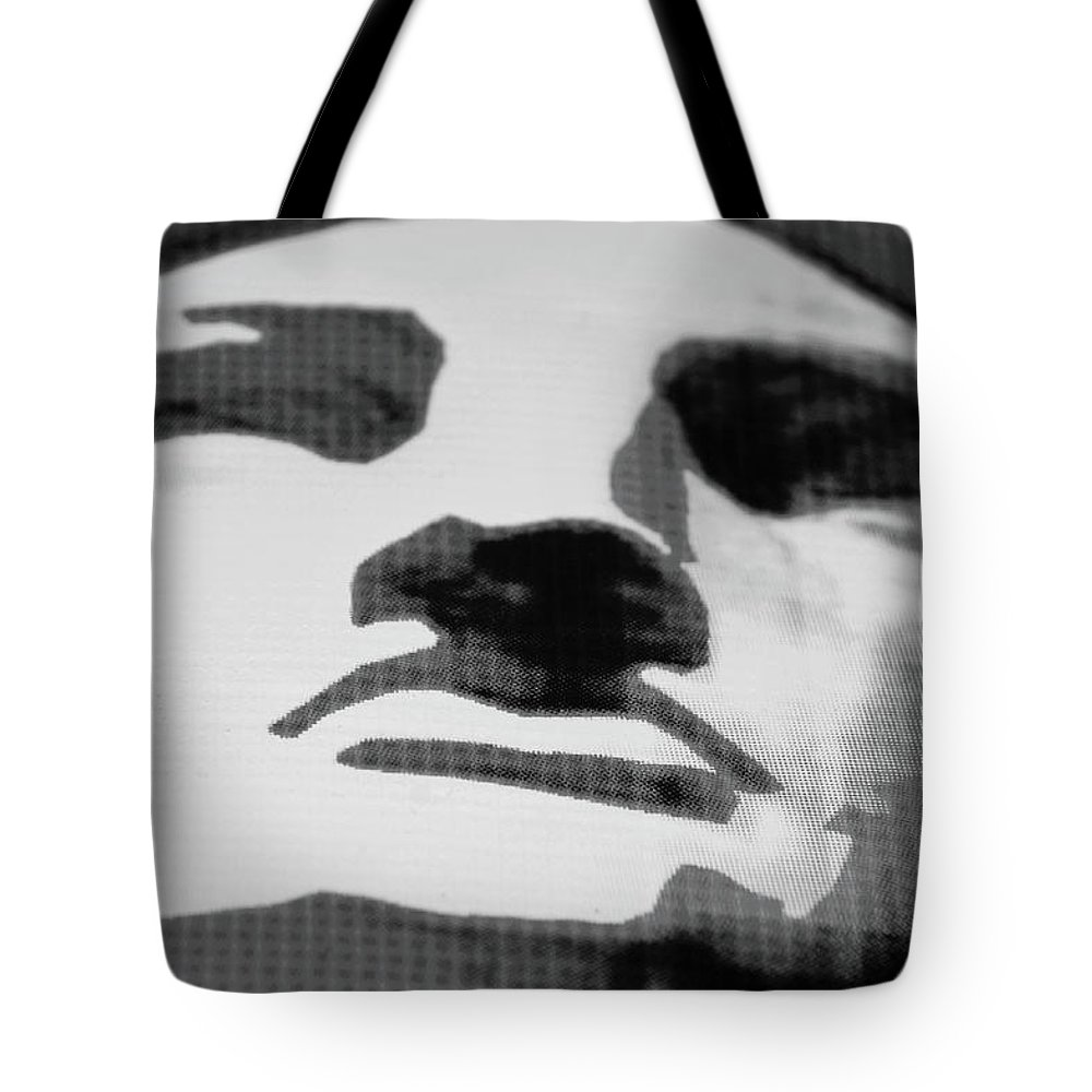 Statue Of Liberty Tote Bag featuring the photograph Lady Liberty In Black And White by Rob Hans