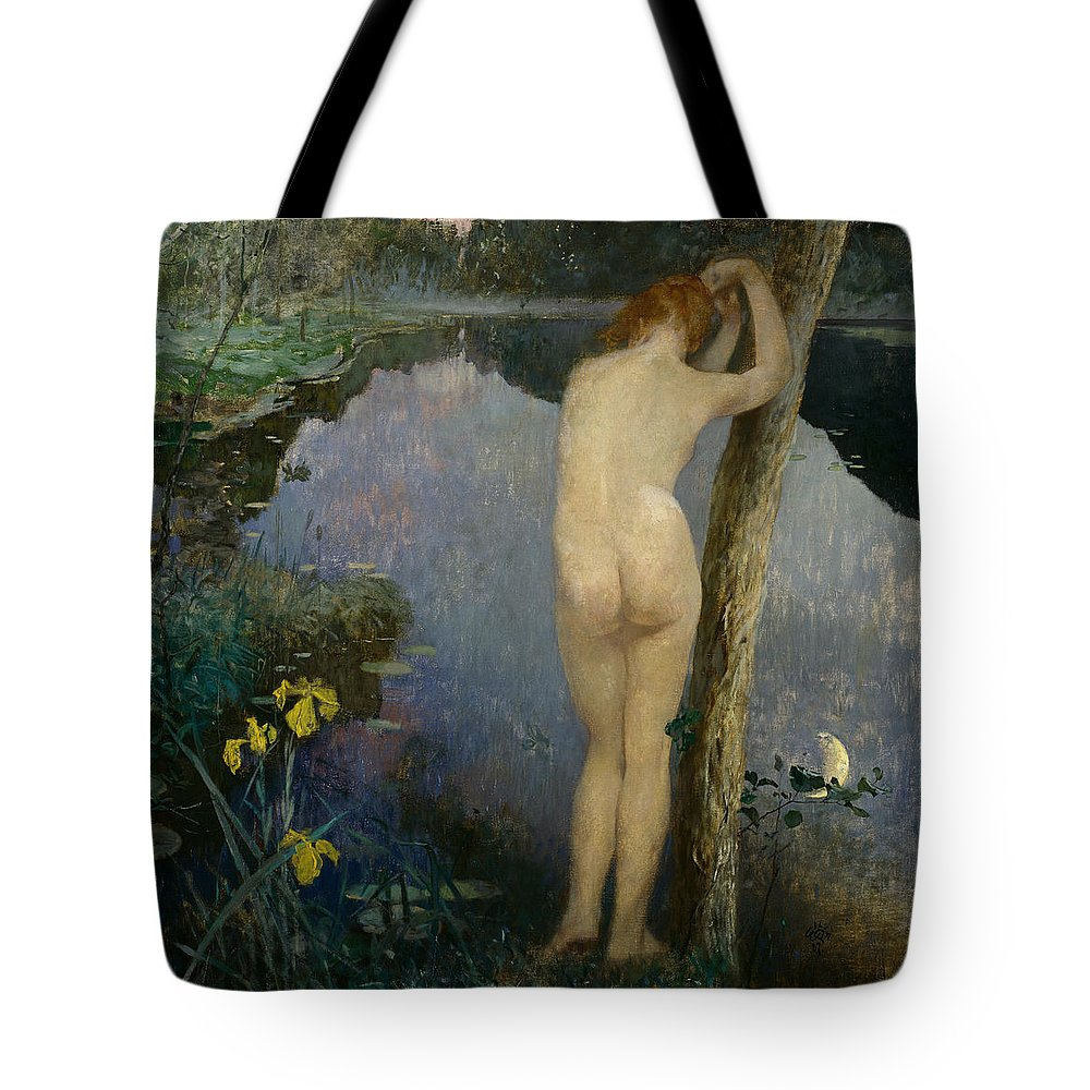 Eilif Peterssen Tote Bag featuring the painting Nocturne by Eilif Peterssen