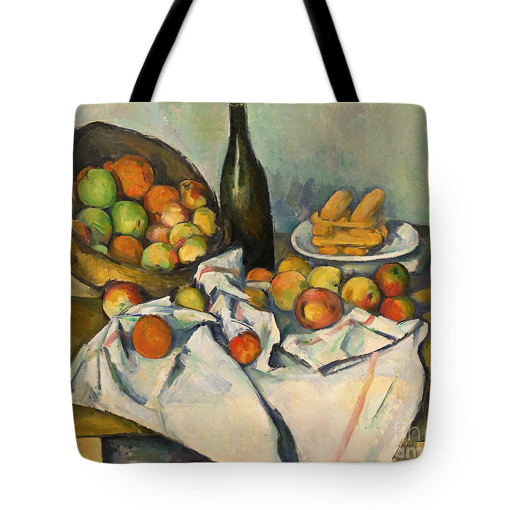 1893 Tote Bag featuring the photograph The Basket Of Apples by Peter Barritt