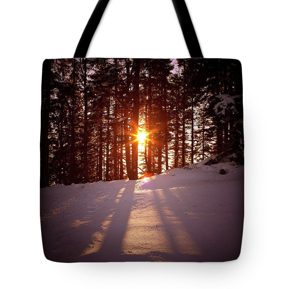 Scenics Tote Bag featuring the photograph Winter Sunset by Borchee