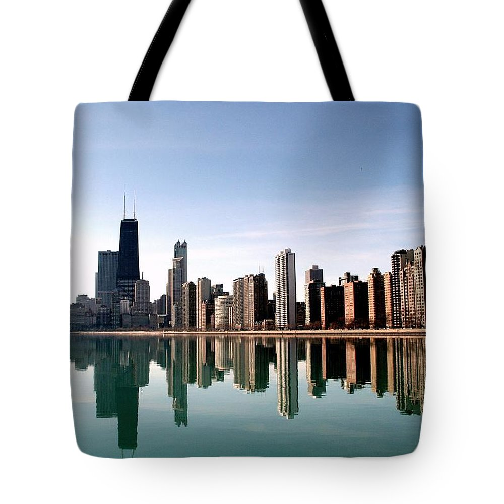 Lake Michigan Tote Bag featuring the photograph Chicago Skyline by J.castro