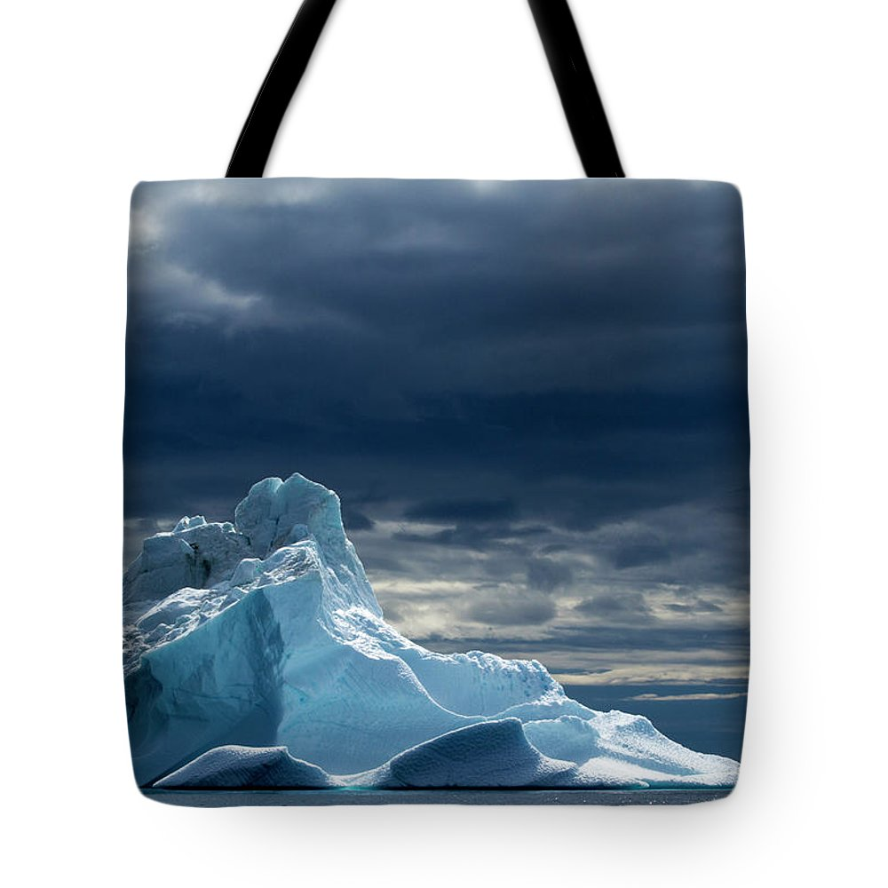 Tranquility Tote Bag featuring the photograph Icebergs, Disko Bay, Greenland by Paul Souders