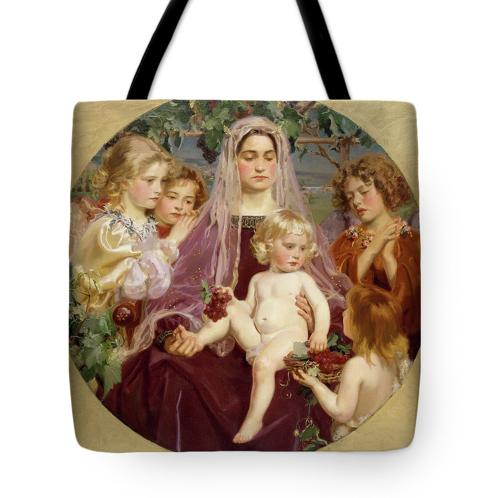 Frederick William Macmonnies Tote Bag featuring the painting Madonna Of Giverny by Frederick William MacMonnies