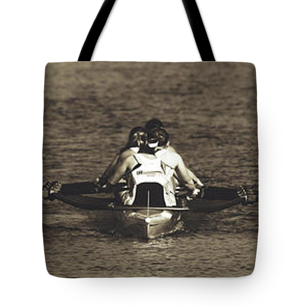 Scull Tote Bag featuring the photograph Teamwork by Pixabay