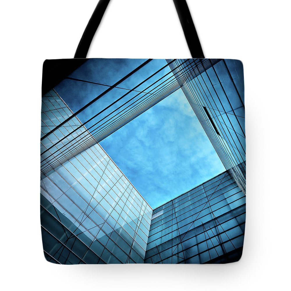 Office Tote Bag featuring the photograph Modern Glass Architecture by Nikada