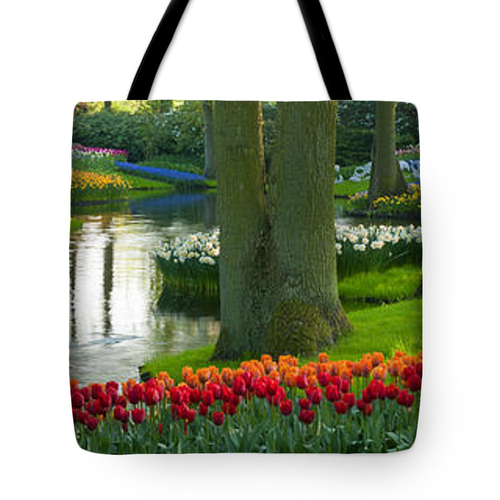 Scenics Tote Bag featuring the photograph Spring Flowers In A Park by Jacobh