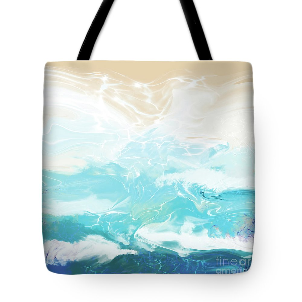 Beach Tote Bag featuring the digital art Untitled by Ashley Barlow