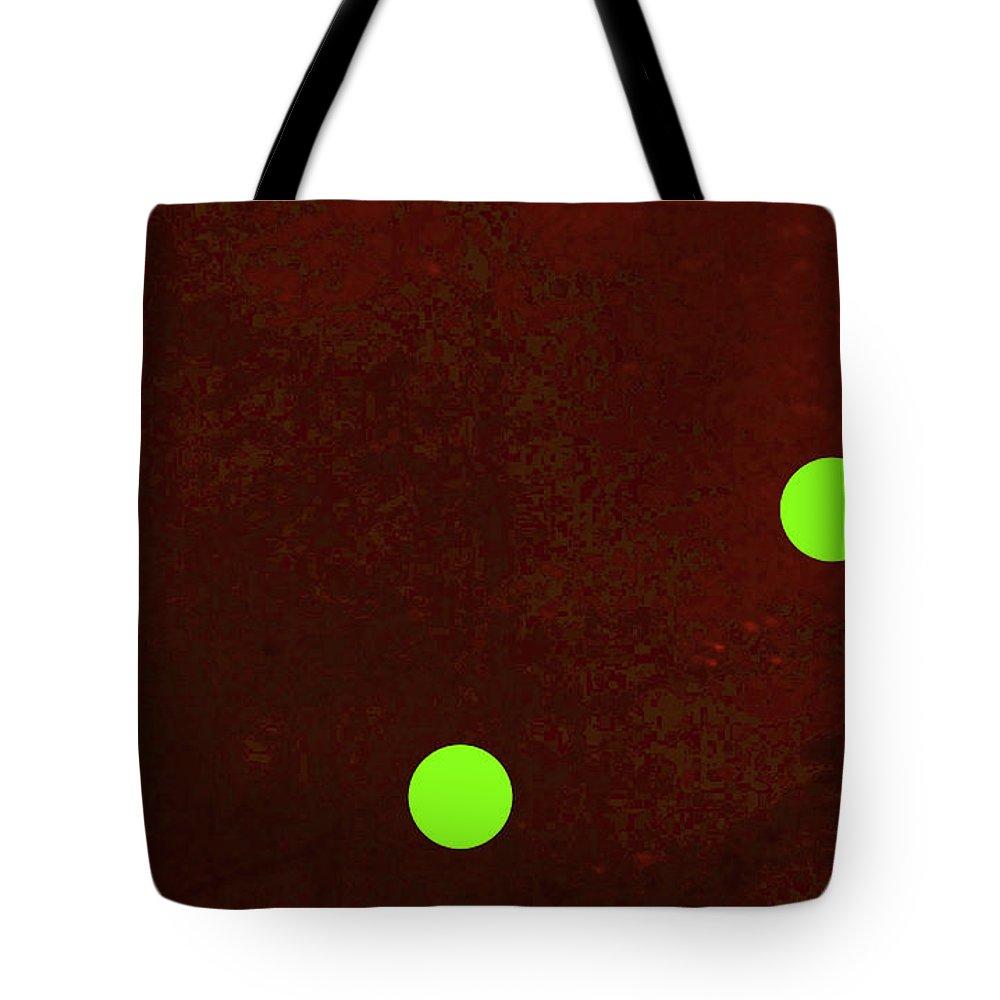Walter Paul Bebirian: The Bebirian Art Collection Tote Bag featuring the digital art 6-8-2009abcdefghijklmn by Walter Paul Bebirian
