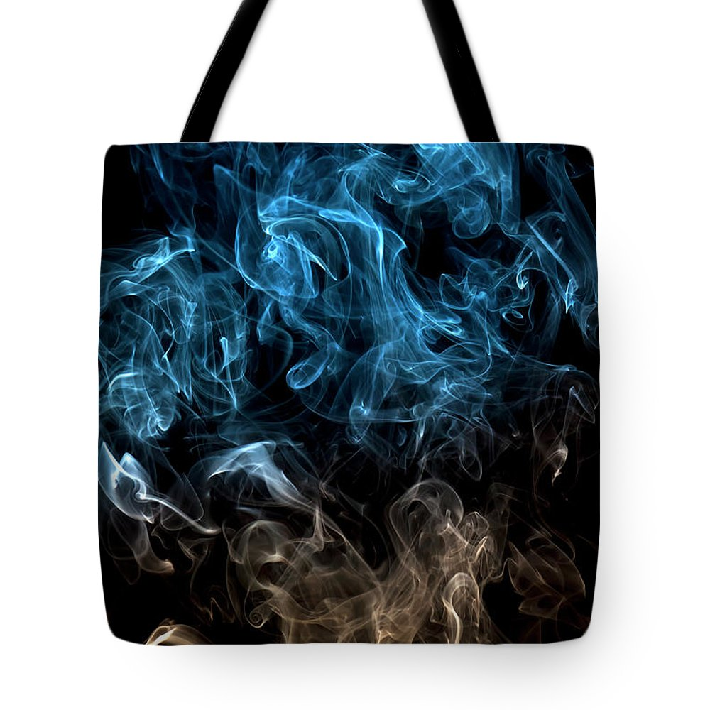 Curve Tote Bag featuring the photograph Blue, Creative Abstract Vitality Impact by Tttuna