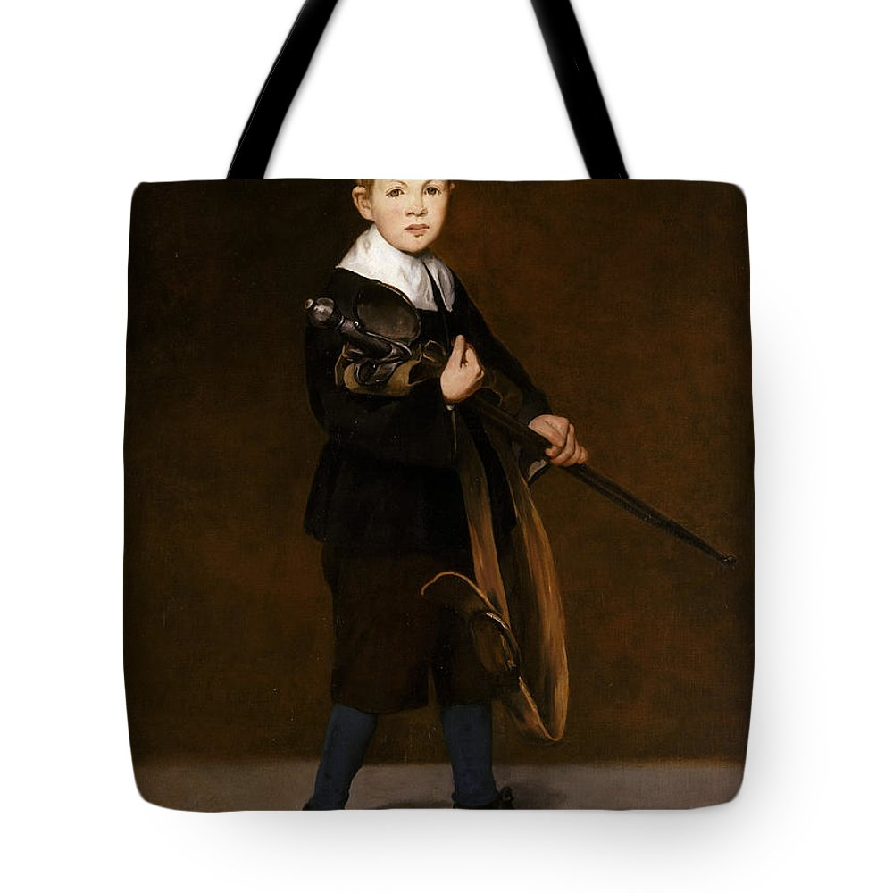 Edouard Manet Tote Bag featuring the painting Boy With A Sword by Edouard Manet