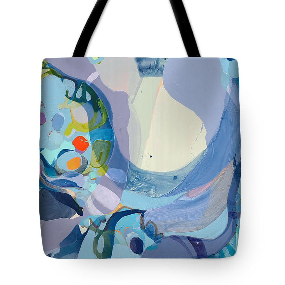 Abstract Tote Bag featuring the painting 70 Degrees by Claire Desjardins