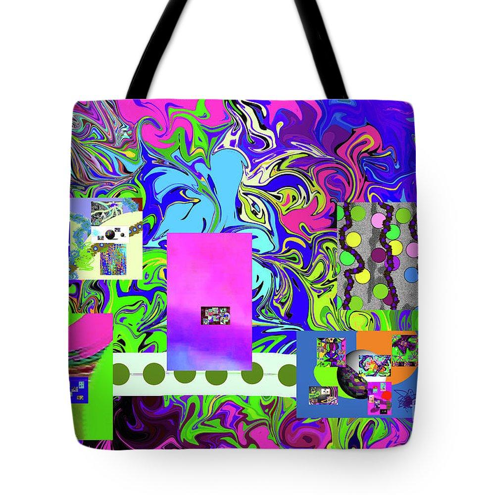Walter Paul Bebirian Tote Bag featuring the digital art 9-10-2015babcd by Walter Paul Bebirian