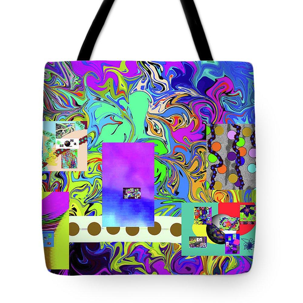 Walter Paul Bebirian Tote Bag featuring the digital art 9-10-2015babcdefgh by Walter Paul Bebirian