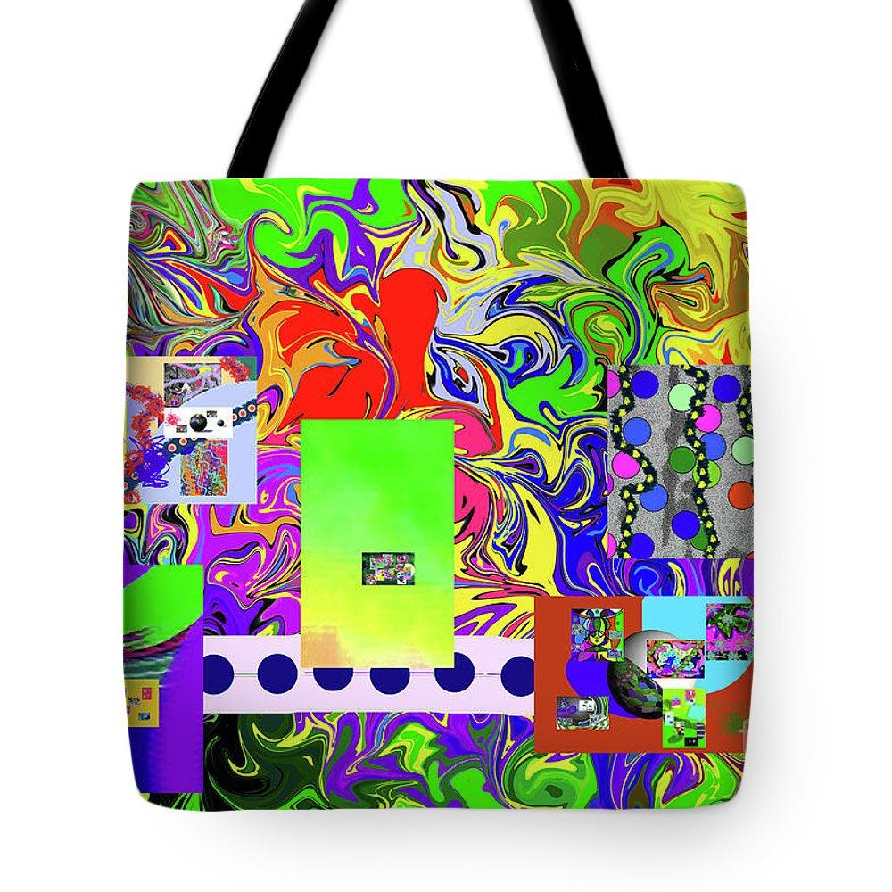 Walter Paul Bebirian Tote Bag featuring the digital art 9-10-2015babcdefghijklmnopqrtuvwxy by Walter Paul Bebirian