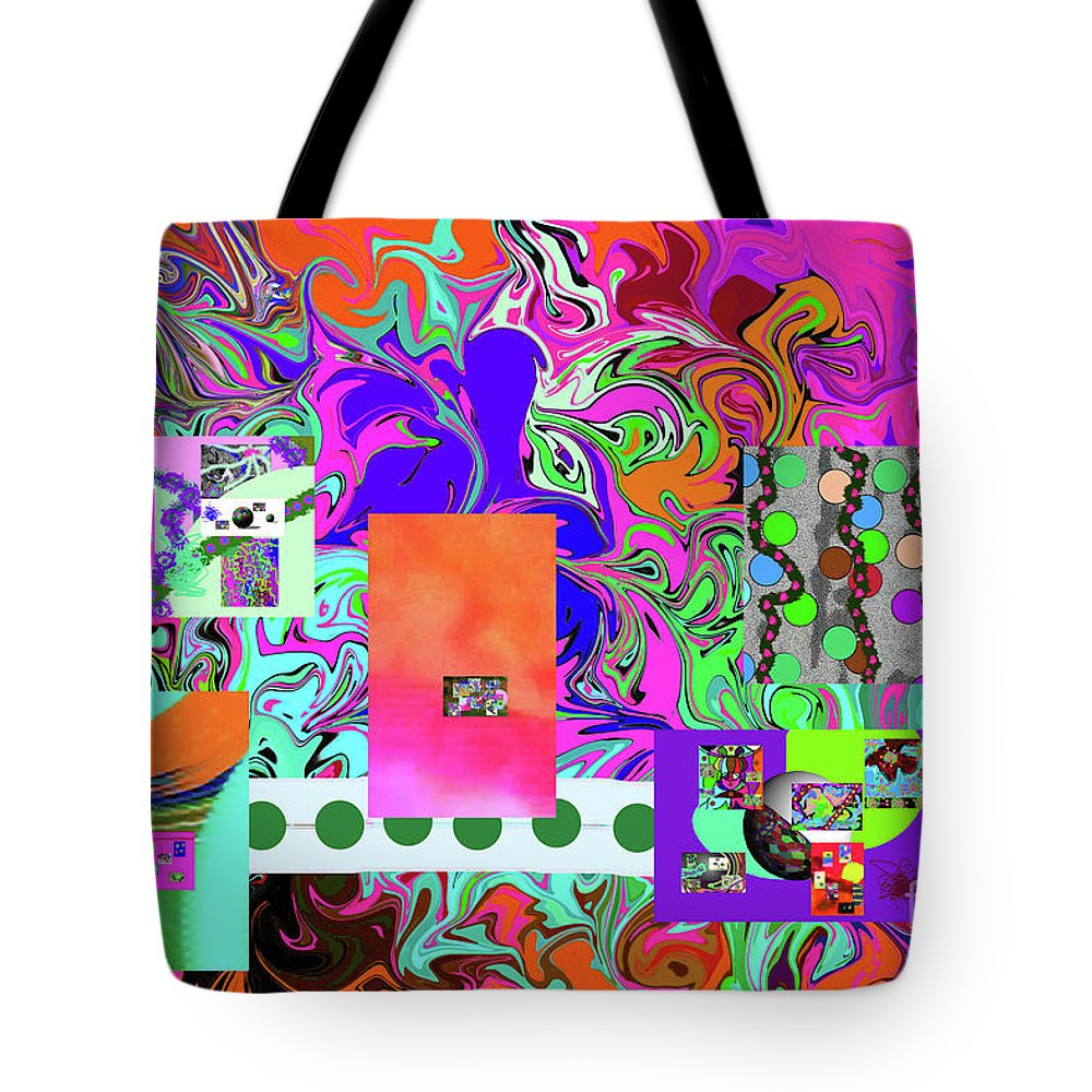 Walter Paul Bebirian Tote Bag featuring the digital art 9-10-2015babcdefghijklmnopqrtuvwxyzabcdefghi by Walter Paul Bebirian