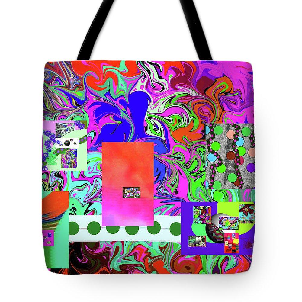 Walter Paul Bebirian Tote Bag featuring the digital art 9-10-2015babcdefghijklmnopqrtuvwxyzabcdefghij by Walter Paul Bebirian