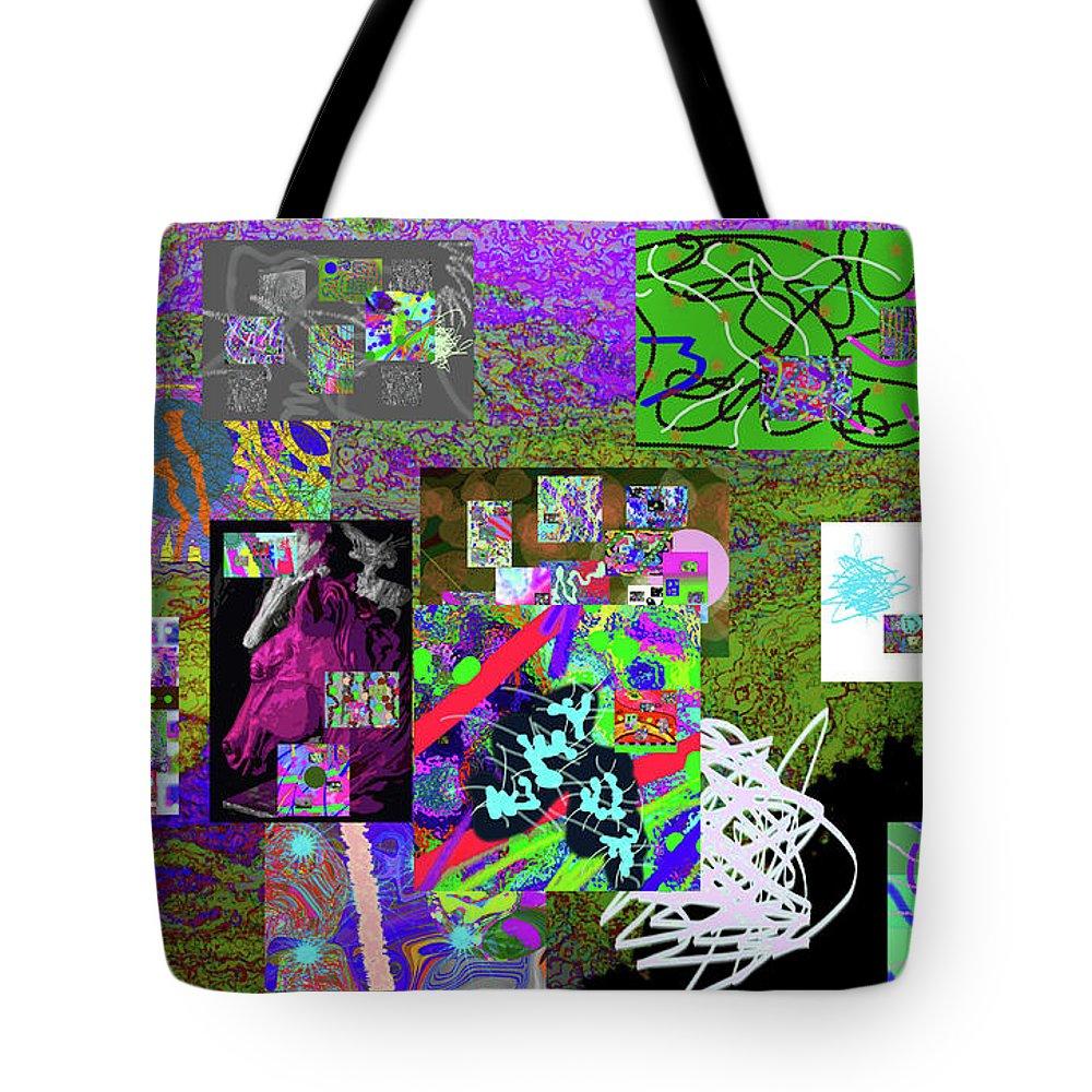 Walter Paul Bebirian Tote Bag featuring the digital art 9-12-2015a by Walter Paul Bebirian