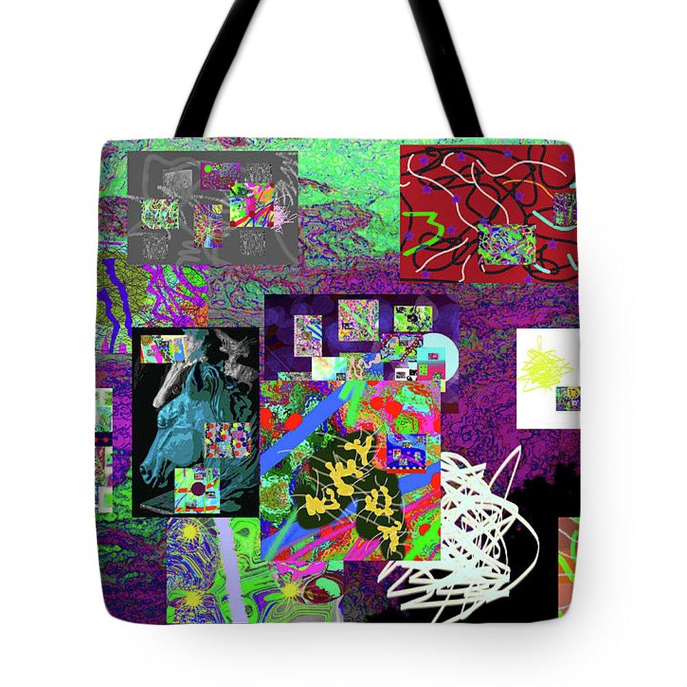Walter Paul Bebirian Tote Bag featuring the digital art 9-12-2015abcdefghijklmn by Walter Paul Bebirian