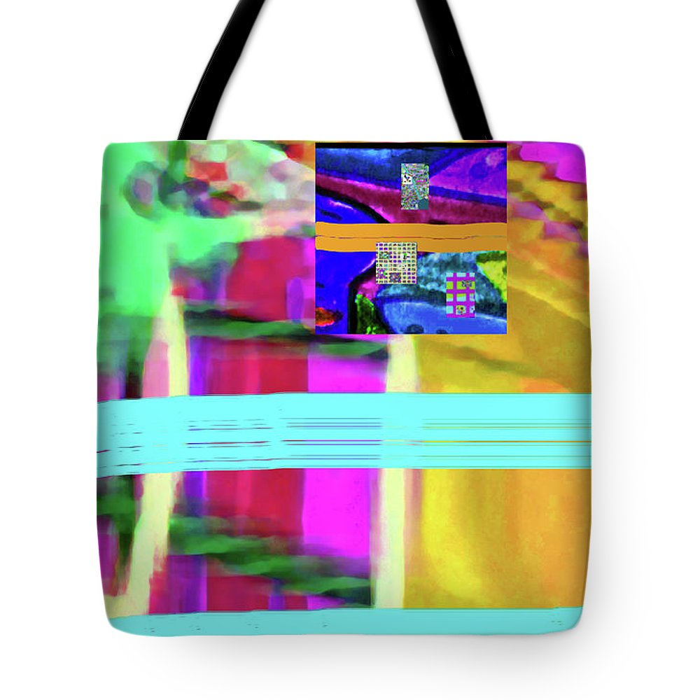 Walter Paul Bebirian Tote Bag featuring the digital art 9-18-2015fabcdef by Walter Paul Bebirian