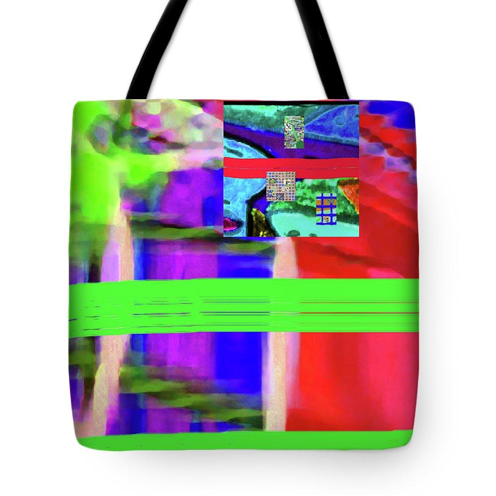 Walter Paul Bebirian Tote Bag featuring the digital art 9-18-2015fabcdefghijk by Walter Paul Bebirian