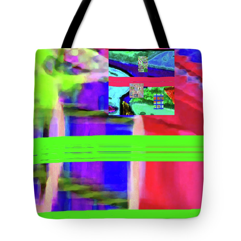 Walter Paul Bebirian Tote Bag featuring the digital art 9-18-2015fabcdefghijkl by Walter Paul Bebirian