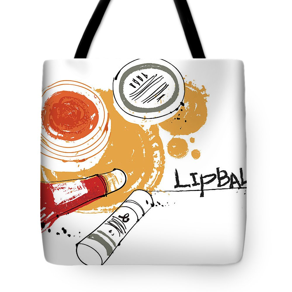 White Background Tote Bag featuring the digital art Cosmetics by Eastnine Inc.
