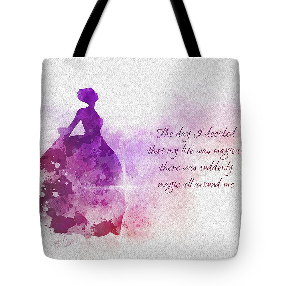 Magic Tote Bag featuring the mixed media A Magical Life by My Inspiration