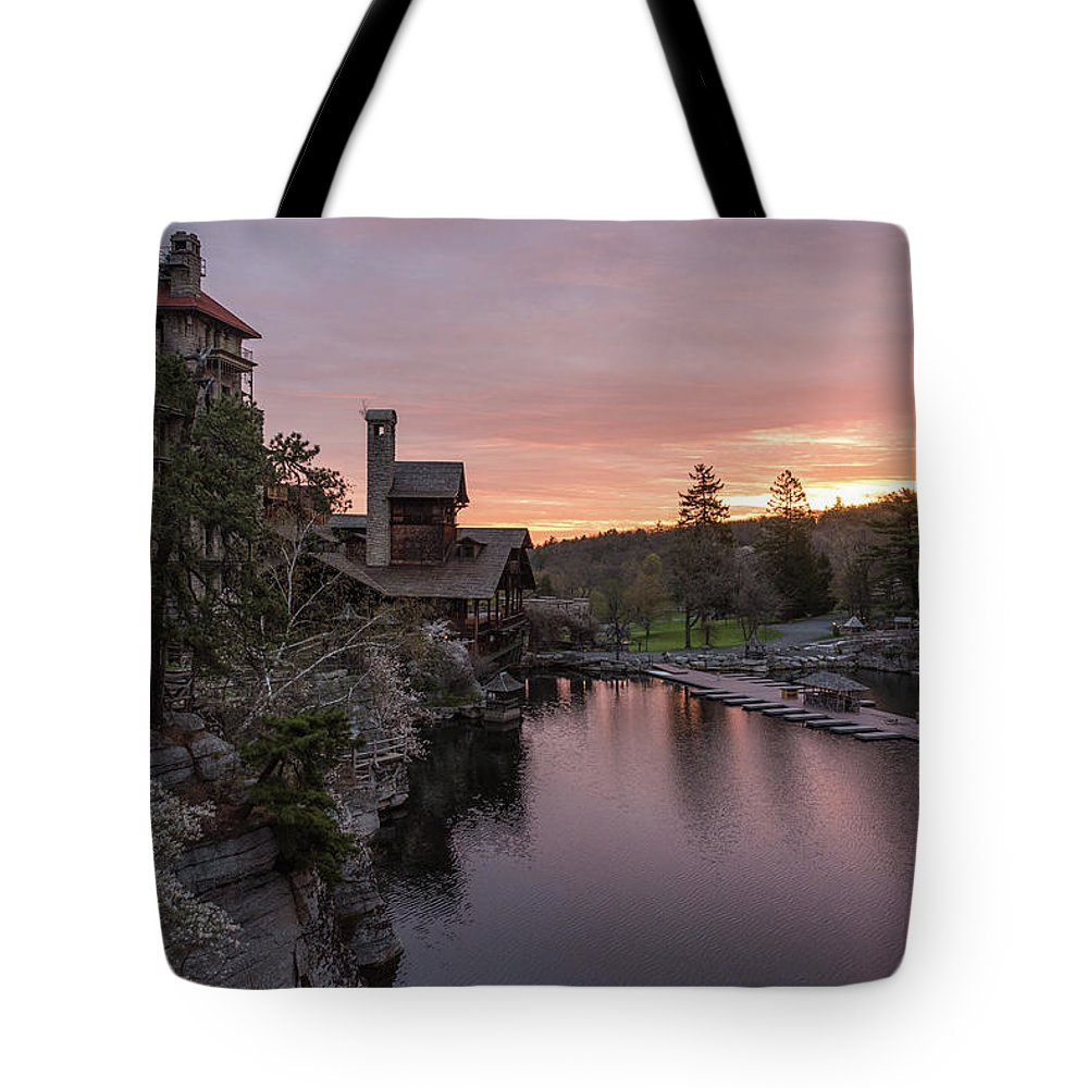 Mohonk Mountain House Tote Bag featuring the photograph A New Day by Kristopher Schoenleber