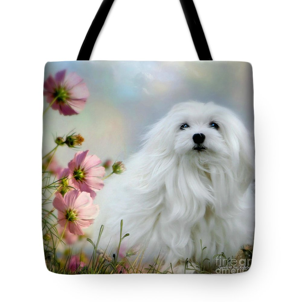 Snowdrop The Maltese Tote Bag featuring the photograph A Soft Summer Breeze by Morag Bates