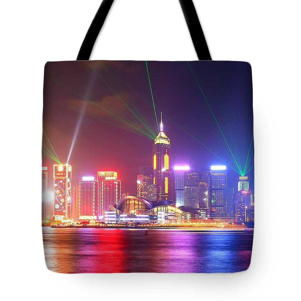 Tranquility Tote Bag featuring the photograph A Symphony Of Lights by Liu Wai Yip Even