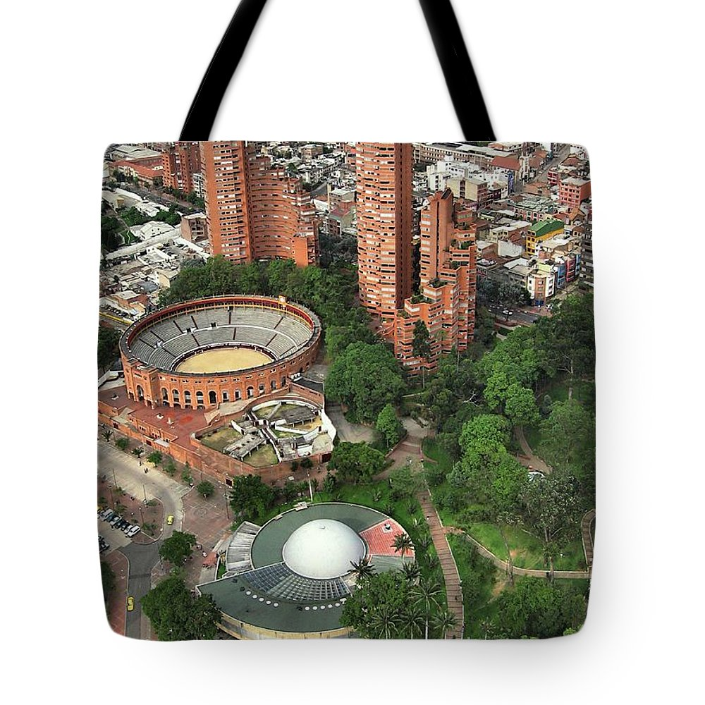 Bogotá Tote Bag featuring the photograph A View Of Downtown Bogota by Julian Medina Ronga