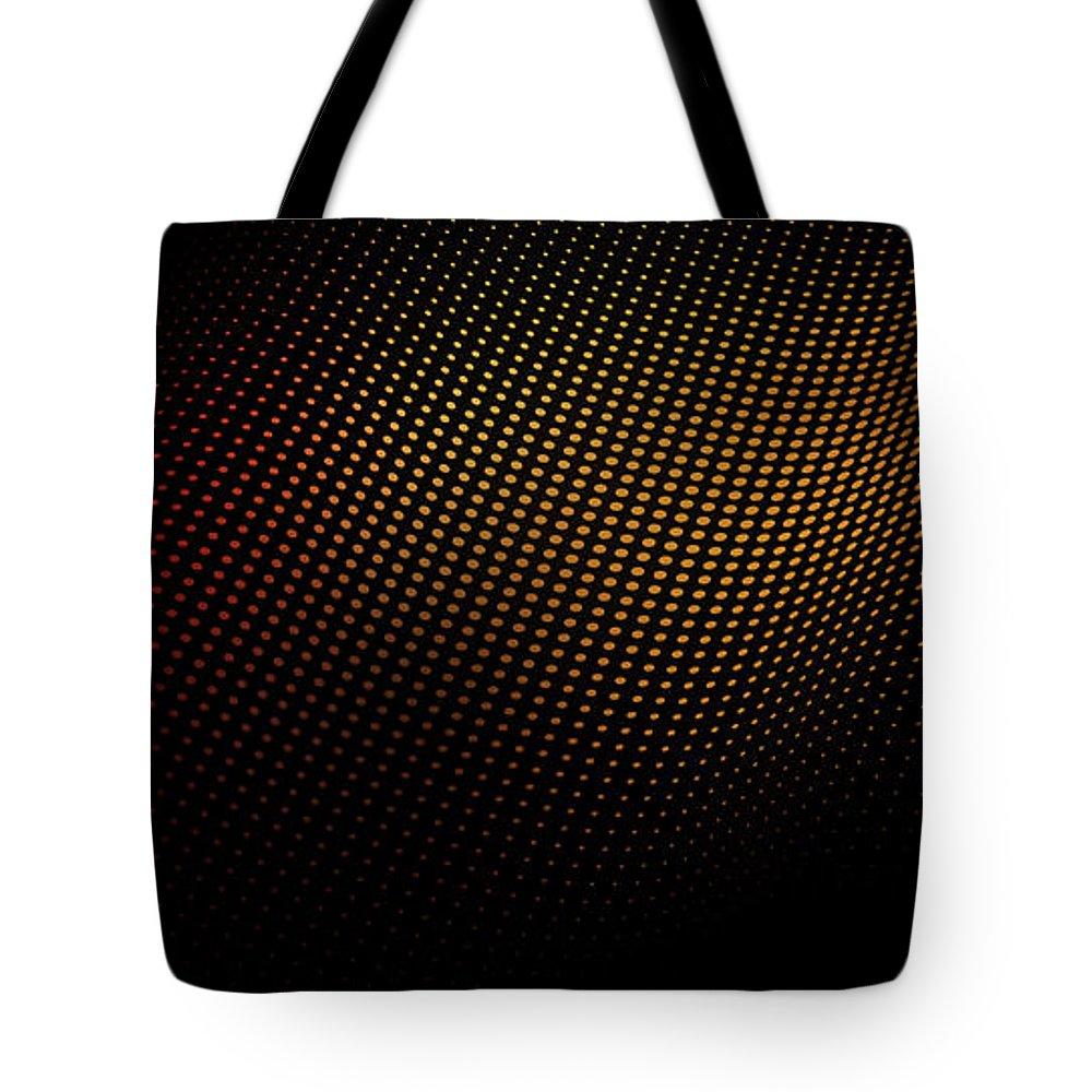 Shadow Tote Bag featuring the digital art A Wave Pattern Of Dots Over Shadow by Ralf Hiemisch