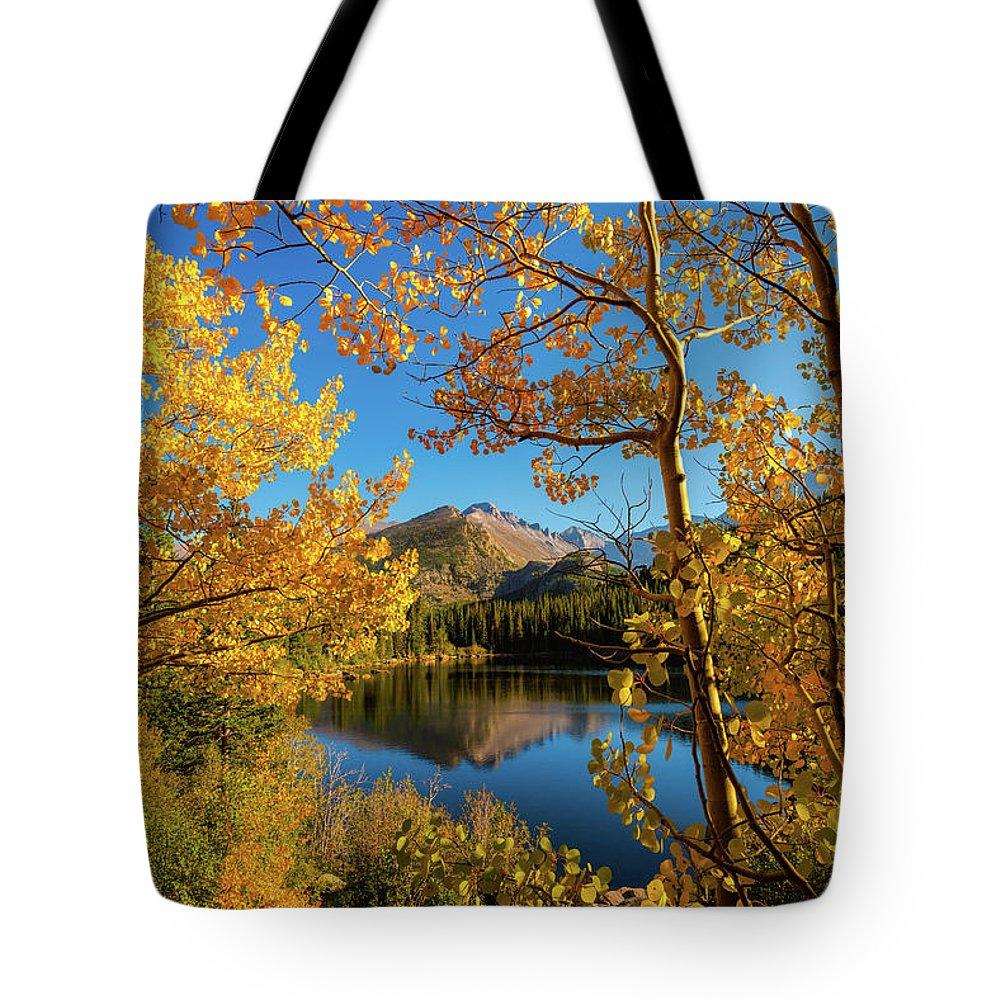 Colorado Tote Bag featuring the photograph A Window Through Autumn by Gary Kochel