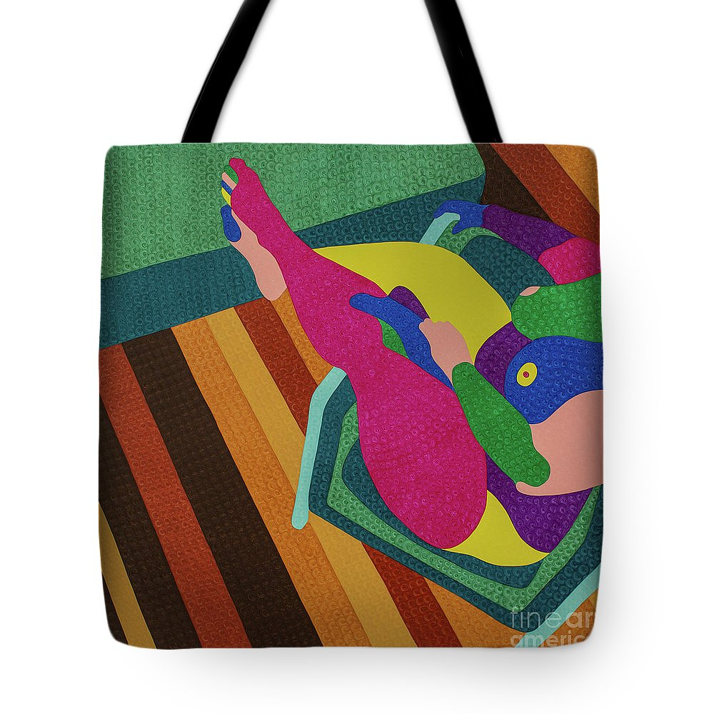 Body Tote Bag featuring the painting A Woman In A Chair by Natalia Lvova