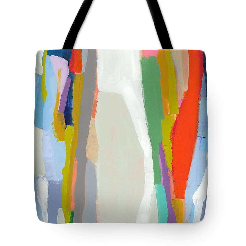 Abstract Tote Bag featuring the painting Aaron And His Greens by Claire Desjardins
