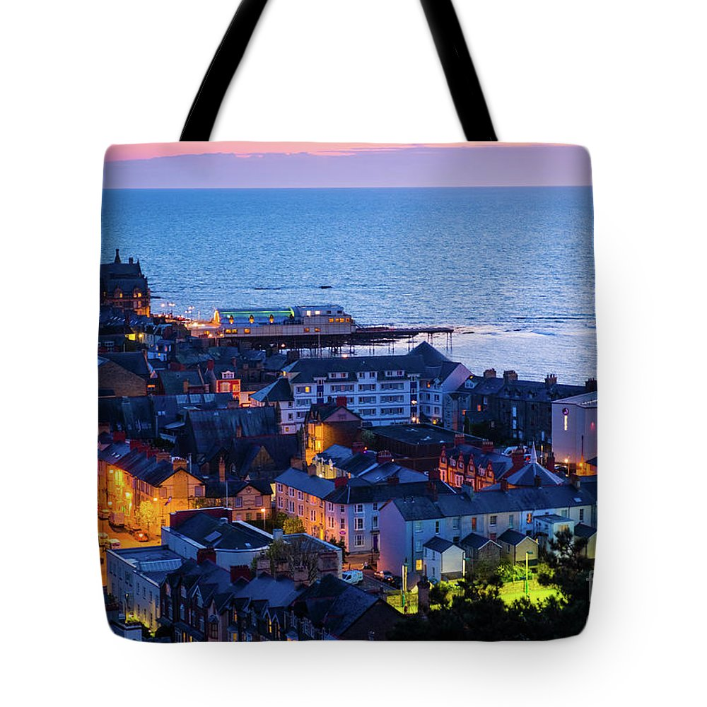 Aberystwyth Tote Bag featuring the photograph Aberystwyth At Night by Keith Morris