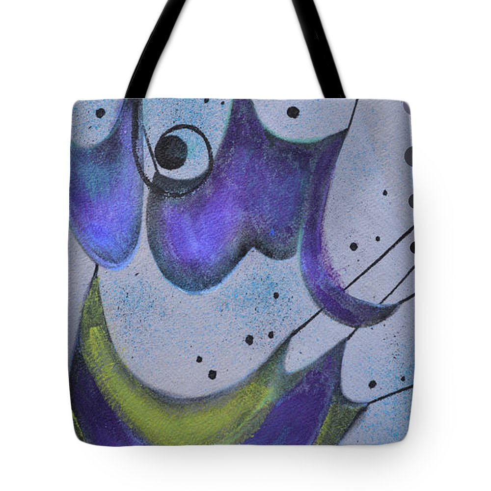 Abstract Tote Bag featuring the painting Abstract 1 by To-Tam Gerwe