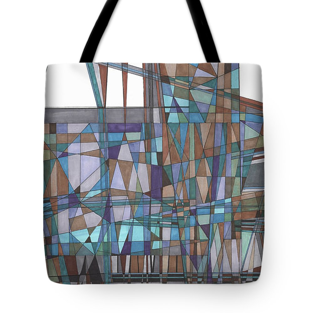 Abstract 31 Tote Bag featuring the drawing Abstract 31 by Rickie Jacobs