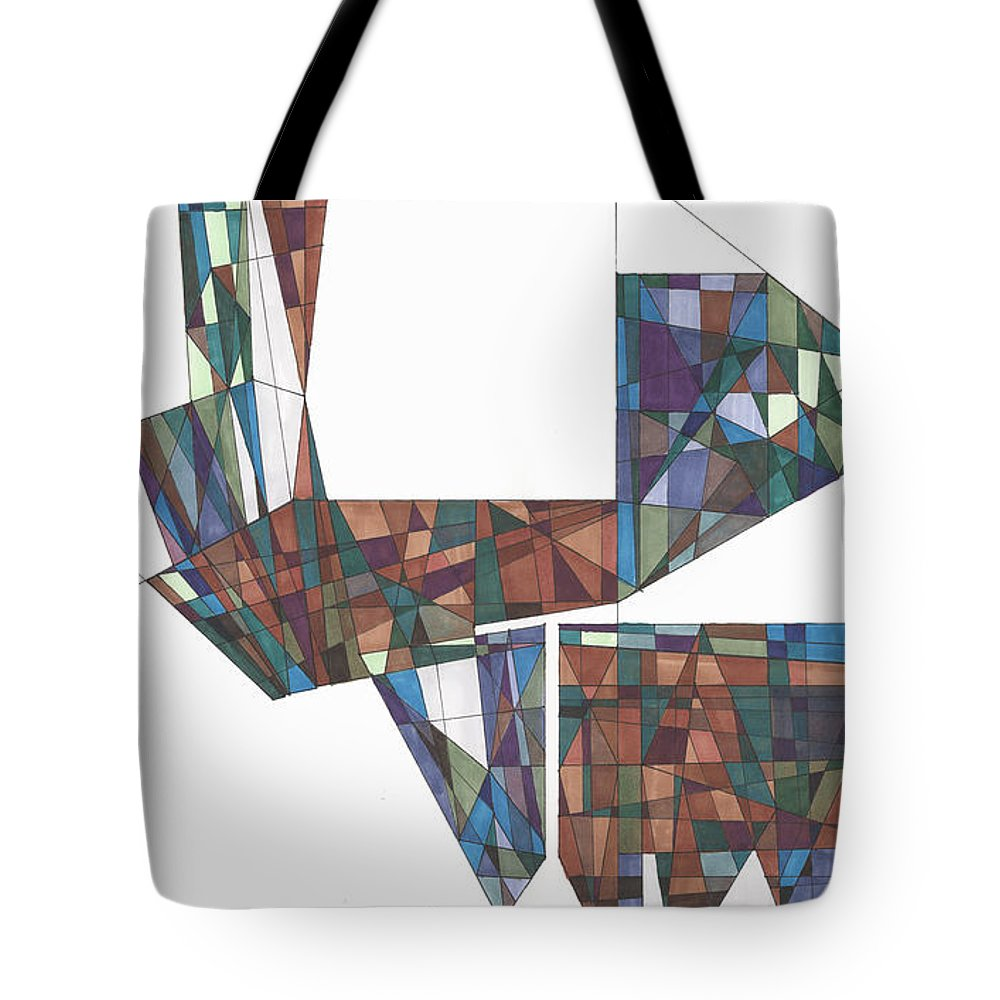 Abstract Tote Bag featuring the drawing Abstract 41 by Rickie Jacobs