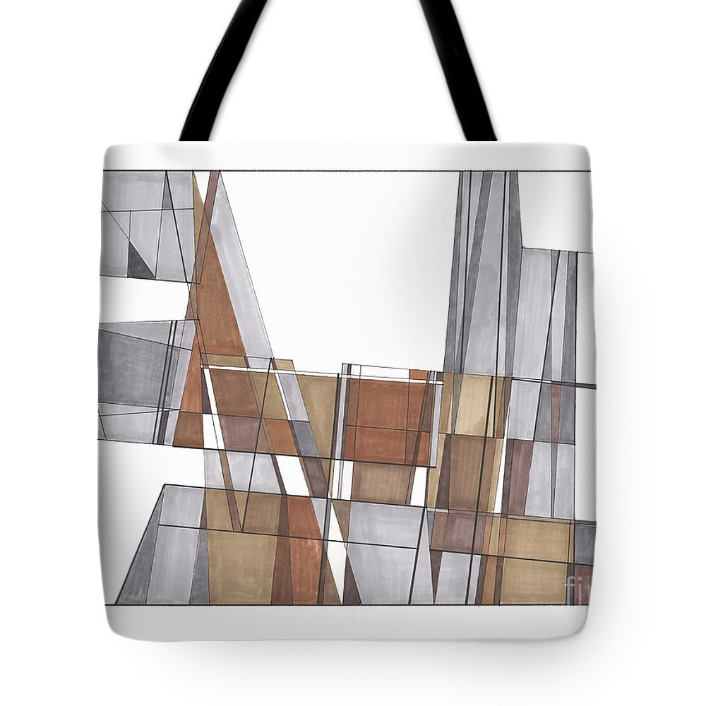 Abstract Tote Bag featuring the drawing Abstract 43 by Rickie Jacobs