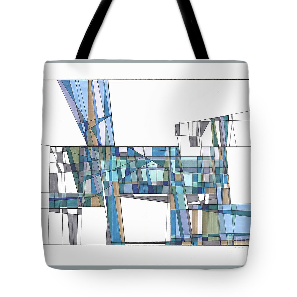 Abstract Tote Bag featuring the drawing Abstract 44 by Rickie Jacobs